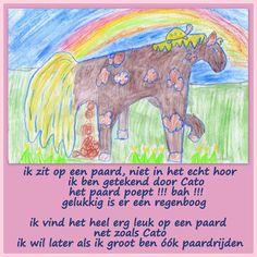 Boris en het paard getekend door Cato