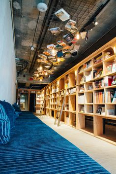 Rugged Never Smooth : Photo Sleep Box, Bookstore Design, Library Cafe, Bunk Beds Built In, Hotel Room Design, Cafe Bistro, Book Cafe, Office Furniture Design, Modular Homes