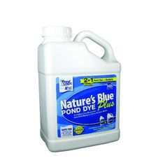 """Airmax Natures Blue Plus, 1 Gallon by Airmax. $46.62. Beautifies your pond with a natural blue color.. 1 Gallon of Liquid Pond-Clear 2 IN 1 will treat up to 1/2 acre pond for 1 month.. No water use restrictions and is safe for people, pets, fish, waterfowl & wildlife.. Pond-Clear natural bacteria works to remove """"muck"""", excess nutrients and noxious odors creating a healthy ecosystem.. Naturally improves water clarity by attacking suspended organic waste and muck....."""