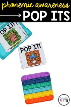 Do you have students who know letter sounds but struggle to blend those sounds together to read a word? Phonemic awareness pop its will help! #popits #phonemicawareness #sounds Reading Lessons, Reading Activities, Literacy Activities, Literacy Centers, Phonemic Awareness, Letter Sounds, Word Out, Learn To Read, Dollar Stores