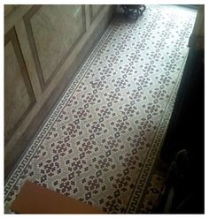 5 Your hexagon ceramic tile patterns can simple or ornate like this one.