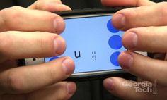 Braille texting app