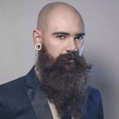 Long Beard Styles For Bald Head