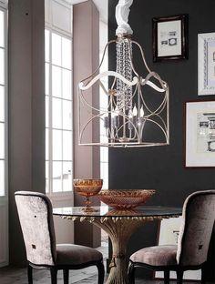 Lantern Art Deco Handmade metal lantern with Crystals from Swarovski  #eurolampart #luxurylight #lighting #luxuryhome #homecollection www.eurolampart.it