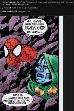 See more 'Avengers: Infinity War' images on Know Your Meme! Marvel Jokes, Avengers Memes, Marvel Funny, Marvel Vs, Marvel Dc Comics, Marvel Heroes, Funny Comics, Spiderman Marvel, Marvel Universe