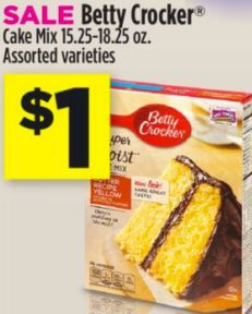 STL Mommy « Dollar General – Betty Crocker Cake Mix $0.25 + Saturday $5 Off Of $25 Coupon
