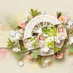 Floral Wreath, Scrap, Romance, Wreaths, Templates, Kit, Play, Design, Home Decor