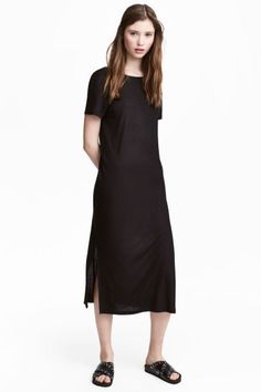 Vestido em jersey - Preto - SENHORA | H&M PT 1