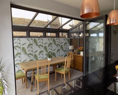 lean to conservatory side return Lean To Conservatory, Conservatory Kitchen, Conservatory Extension, House Extension Design, House Design, Loft Design, Design Design, Lean To Roof, Side Return