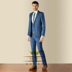 2015 Slim Fit Mens Tuxedos Wedding Suits Custom Made Navy Blue Tailcoat Groom Peak Lapel    Jacket+Pants+Tie+Vest WY832