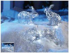 Wire Form Rabbit Lights - SET #1 Noma brand Rare...discontinued.