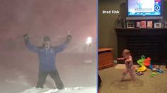 When veteran The Weather Channel host Jim Cantore performed his ecstatic thundersnow dance, he wasn't doing it alone, as evidenced by this adorable little girl who jumped for joy each time Cantore ... Jim Cantore, Weather Storm, Jumping For Joy, The Weather Channel, Get Excited, Cute Little Girls, Cute Babies, Laughter, Cheer