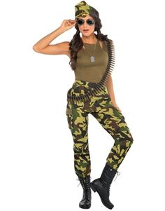 Camo Cutie Army Girl Costume