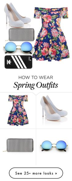 """SPRING OUTFIT"" by tamaracaleta on Polyvore featuring New Look, Lipsy, adidas, cutecardigan and springlayers"