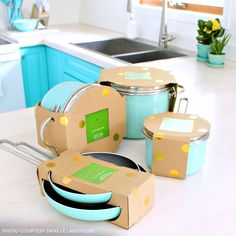 Kitchen Needed More Turquoise Kate Spade pots and pans from And And or AND may refer to: Home Decor Accessories, Kitchen Accessories, Kitchen Colors, Kitchen Decor, Kitchen Stuff, Kitchen Ideas, Turquoise Kitchen, Aqua Kitchen, Kate Spade