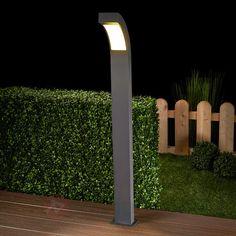 Borne lumineuse LED Lennik gris graphite, référence 9619006 - Lampes d'extérieur à commander en ligne chez Luminaire.fr - Frais de port offerts à partir de 99€ d'achats.