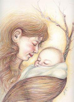Äidinrakkaus-Värikynät