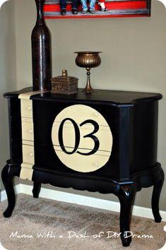 Juxtaposing vintage style furniture with modern / sporty motif