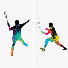 Sport, silhouette, poster, logo, badminton, banner, healthy, positive, youth, passion, blood, athletic, contest, spirit, vigorous