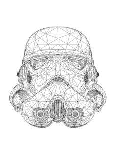 Geometric Stormtrooper Helmet mude work !  #illustration #workprocess #geometric #starwars #geometricartbymak #design #nudework #highpoly #stormtrooper #helmet  https://www.domestika.org/es/projects/334736-geometric-stormtrooper-helmet