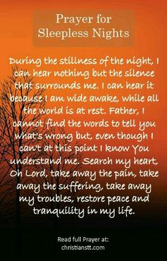 Prayer for sleepless nights