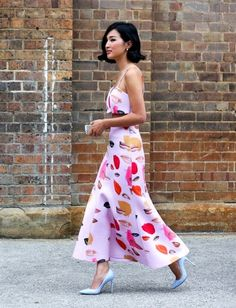 Gary Pepper Girl in a two-piece light pink lip print set with light blue pumps. for some odd reason I love this! Gary Pepper Girl, Estilo Fashion, Ideias Fashion, Fashion Ideas, Couture Fashion, Fashion Show, Stylish Street Style, Novelty Print, Chic