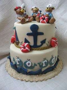 saillor cakes | Teddy Bear Sailor Cake | Flickr - Photo Sharing!