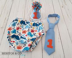 Boys Whale 1st Birthday Diaper Set Whale Cake Smash Outfit