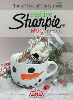 Sharpie Mugs Christmas Craft - great gift ideas