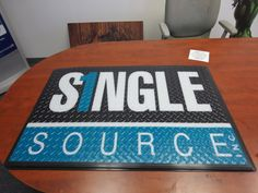 Custom Printed Logo Floor Mat - back sided print