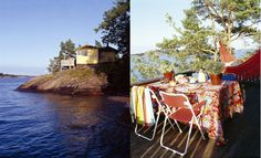 isabelle mcallister, cabin, summerhouse, porch, veranda, ö, rocks, hammock, isabelle.se, dosfamily.com