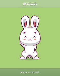 Cute rabbit waving hand cartoon illustra... | Premium Vector #Freepik #vector