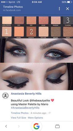 Makeup By Mario Palette, Makeup Looks 2017, Make Me Up, Anastasia Beverly Hills, Eyeshadow, Beauty, Nails, Eye Shadow Tutorial, Tutorials