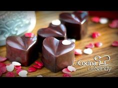 (492) Bombones de chocolate licor y cerezas para dia de San Valentin - YouTube Candy Making, Truffles, Fondant, Biscotti, Cereal, Recipies, Pudding, Valentines, Homemade