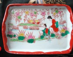 All things Japanese by Beatrice on Etsy Painted Porcelain, Hand Painted, Japanese Egg, Oriental Decor, Egg Shells, Geisha, Cup And Saucer, Cups, Tray