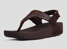 2013 Brown jewel-encrusted fitflop