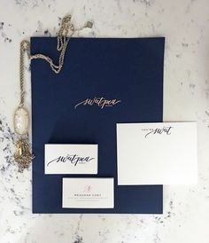 Sweetpea Events – Printed Collateral for Wedding Planner