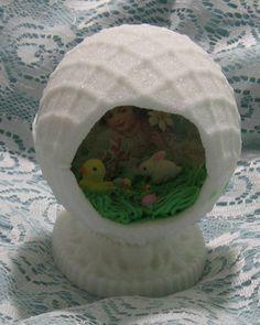 Lattice embossed Panoramic Sugar egg