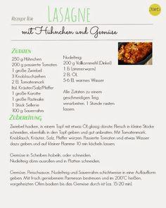 Lasagne mit Hühnchen und Gemüse ... lecker...