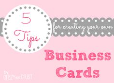 5 Tips for creating your own Business Cards