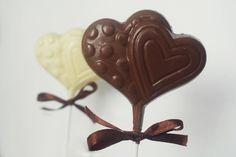 Belgian Chocolate Lollipops.