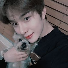 """""""jungwoo's dog is named obok! he's mentioned his dog a few times and said it's a Yorkshire terrier 🥰 CUTEEEE"""" Winwin, Taeyong, Jaehyun, Nct 127, Kim Jung Woo, Fandoms, Entertainment, Boyfriend Material, Nct Dream"""