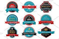 Quality guarantee retro labels colle. Premium Icons. $8.00