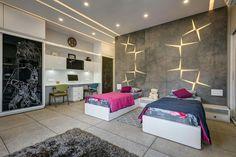 Wall Decored Bedroom Teenagers Ceilings 34 Ideas For 2019 Bedroom False Ceiling Design, Bedroom Bed Design, Girl Bedroom Designs, Bedroom Sets, Modern Bedroom, Bedroom Wall, Bedroom Decor, Bedrooms, Apartment Interior