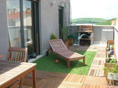 ideas cesped terraza balcon