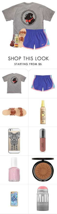 """sets are fun to make;)"" by southernmermaid ❤ liked on Polyvore featuring Southern Proper, NIKE, Jack Rogers, Mason's, Sun Bum, Casetify, Revlon, Essie, Iman and Lilly Pulitzer"