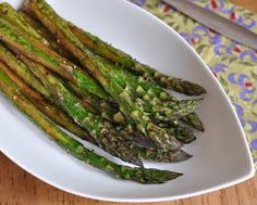 Roasted Asparagus with Balsamic Vinegar © A Veggie Venture