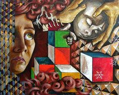 andrea bernath_Medusa creating the Solution Cubism Art, Original Paintings, Art Painting, Painting, Art, Portrait Painting, Canvas Art, Original Art, Saatchi Art