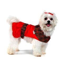 Vestido para Cachorro Natal Xadrez Bichinho Chic - MeuAmigoPet.com.br #petshop #cachorro #cão #meuamigopet