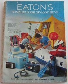 1973 Eatons Summer Book of Good Buys Catalog Canadian Beer, Canadian History, Vintage Shops, Vintage Stuff, Vintage Items, Toy Catalogs, Catalog Cover, Vintage Restaurant, Summer Books